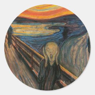 The Scream Round Sticker