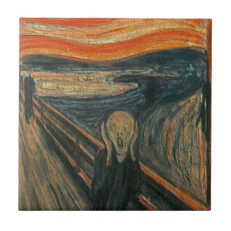 The Scream (Textured) by Edvard Munch Ceramic Tile