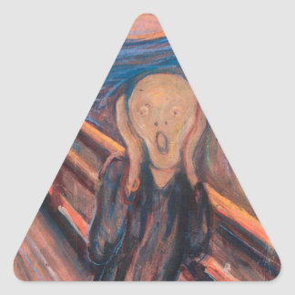 The Scream Triangle Sticker