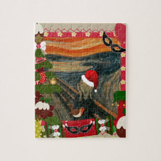 the scream ugly christmas puzzle