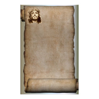 The Scroll of Jesus Christ, Crown of Thorns Custom Stationery