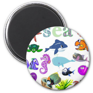 The Sea 6 Cm Round Magnet