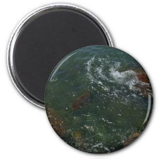 The Sea 6 Cm Round Magnet