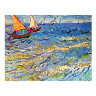 The sea at Saintes-Maries by Vincent van Gogh Postcard