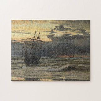The Sea-Beach after a Storm  Time, Dawn Jigsaw Puzzle
