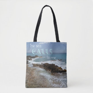 The Sea Calls Tote Bag