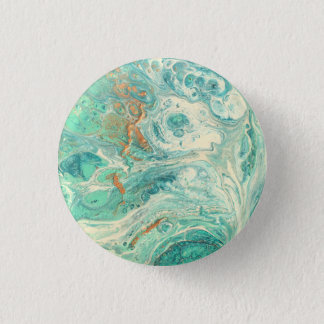 The sea foam planet 3 cm round badge