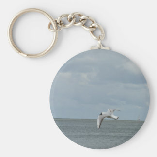The sea gull and the sea key ring