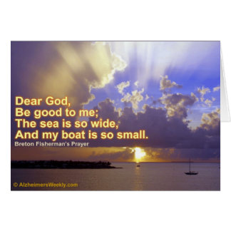 The sea is so wide-Greeting Card