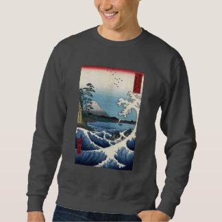 The Sea off Satta in Suruga Province, Hiroshige Sweatshirt