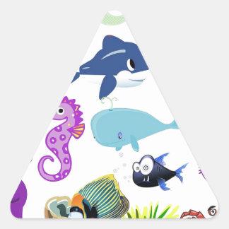 The Sea Triangle Sticker