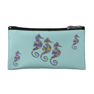 The Seahorse Rainbow Cosmetic Bag