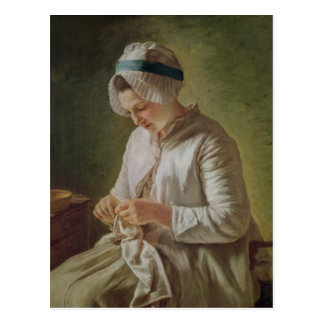 The Seamstress or, Young Woman Working Postcard