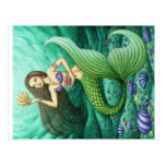 The Seashell Collector Mermaid Postcards