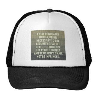The Second Amendment Mesh Hats