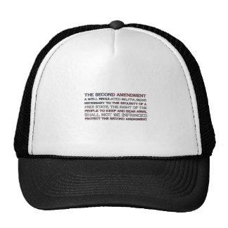 The Second Amendment Flag Mesh Hat