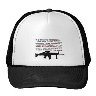 The Second Amendment Flag with M4 Mesh Hats