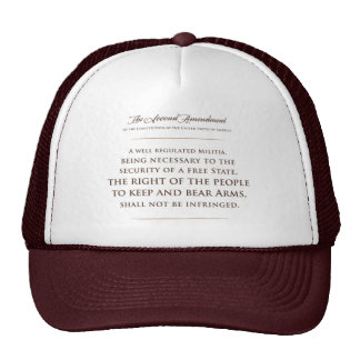 The Second Amendment. hat