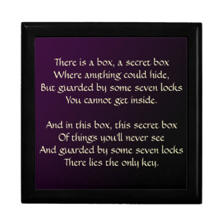 The Secret Box Poem Large Square Gift Box