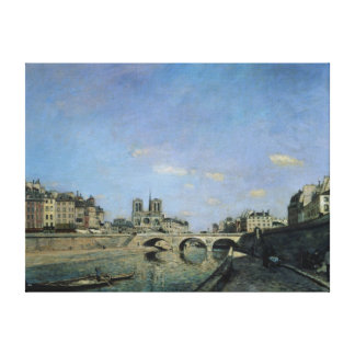 The Seine and Notre Dame in Paris, 1864 Canvas Print