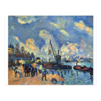 The Seine at Bercy by Paul Cezanne Postcard