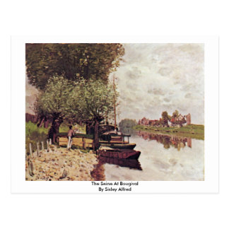 The Seine At Bougival By Sisley Alfred Postcards