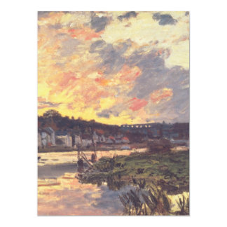 The Seine at Bougival in the Evening 17 Cm X 22 Cm Invitation Card