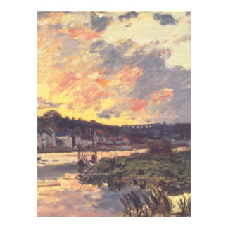 The Seine at Bougival in the Evening Invitations