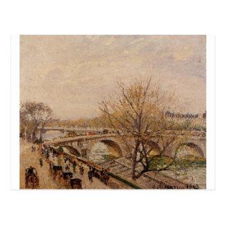 The Seine at Paris, Pont Royal by Camille Pissarro Postcard