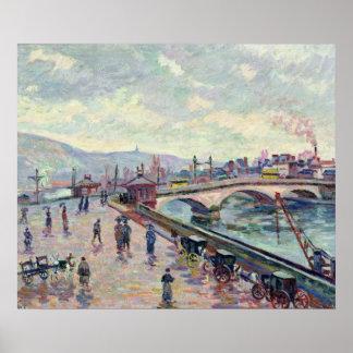 The Seine at Rouen Poster