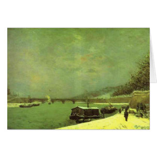 The Seine at the Pont d'Iena by Paul Gauguin Card