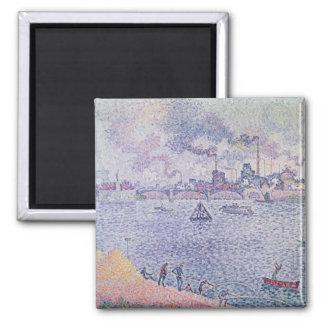 The Seine, Grenelle, 1899 Square Magnet