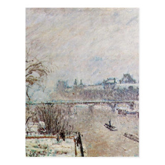 The Seine Viewed from the Pont Neuf, Winter Postcard