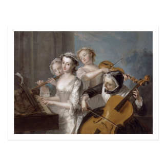 The Sense of Hearing, c.1744-7 (oil on canvas) Postcard