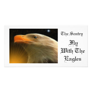 The Sentry / Fly With The Eagles Personalized Photo Card