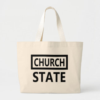 The Separation of Church and State - 1st Amendment Large Tote Bag