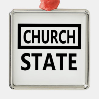 The Separation of Church and State - 1st Amendment Metal Ornament