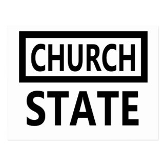 The Separation of Church and State - 1st Amendment Postcard