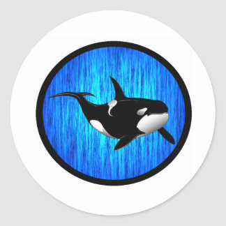 THE SERENE ORCA CLASSIC ROUND STICKER