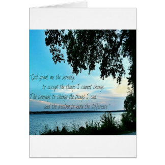 The Serenity Prayer Card