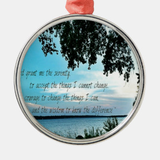 The Serenity Prayer Metal Ornament