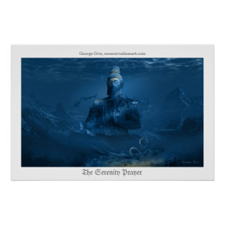 The Serenity Prayer or Tranquility Meditation Poster