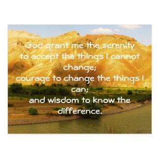 The Serenity Prayer Postcard
