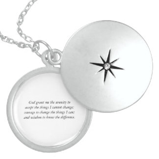 The Serenity Prayer Sterling Silver Locket