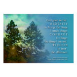 The Serenity Prayer Tall Trees Poster