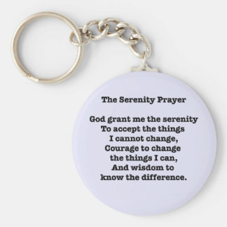 The Serenity Prayer Text Only Keychain