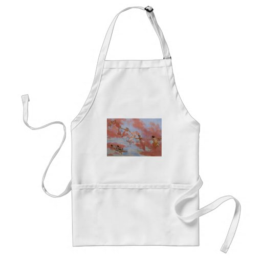 The Serenity Prayer With Flying Angels Painting Aprons