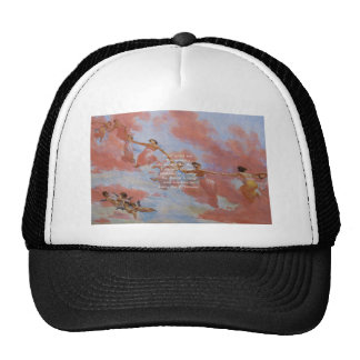 The Serenity Prayer With Flying Angels Painting Trucker Hats