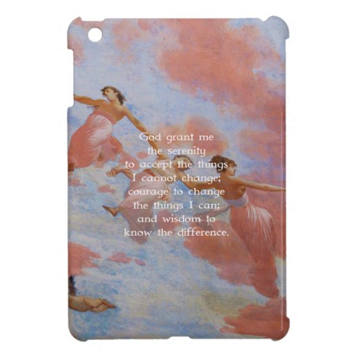 The Serenity Prayer With Flying Angels Painting iPad Mini Covers
