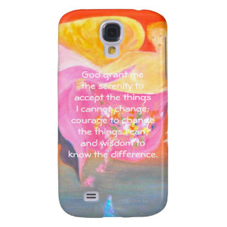 The Serenity Prayer with Folk Art Angel Painting Samsung Galaxy S4 Case